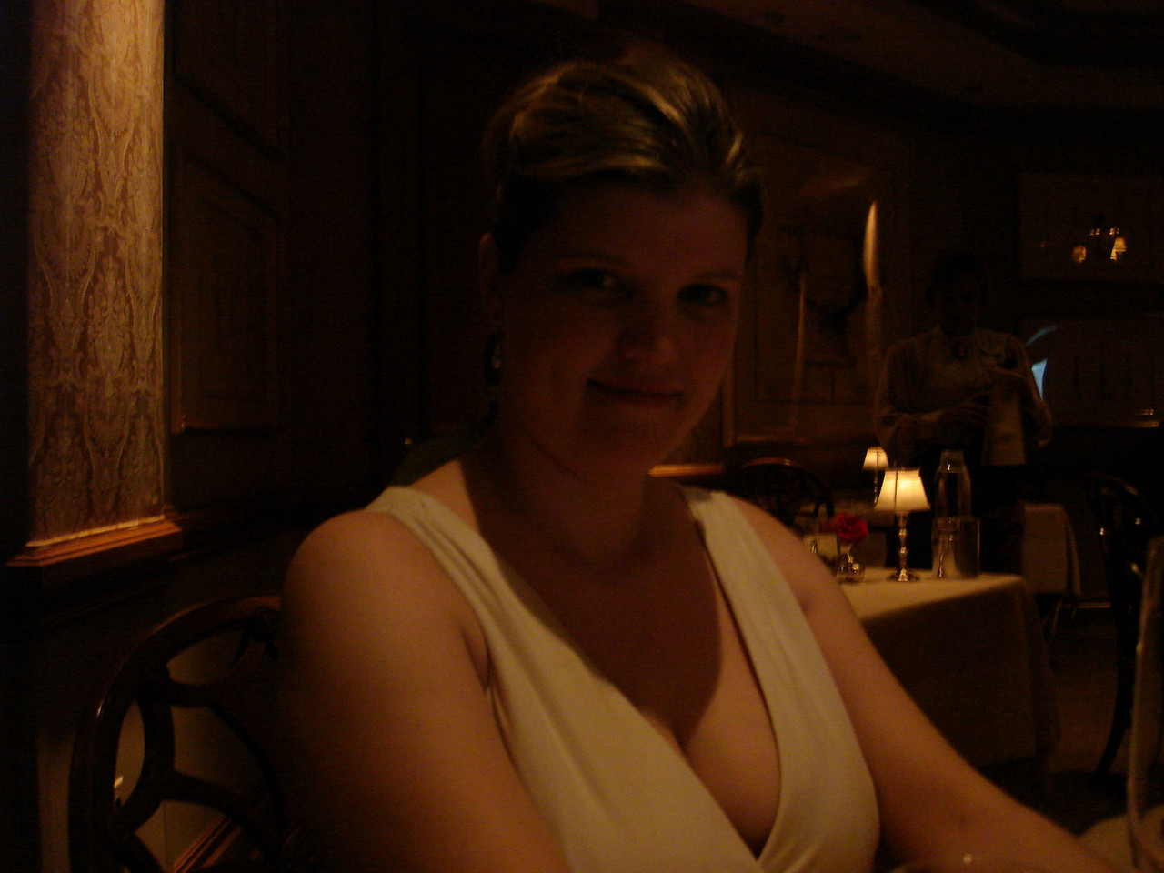"""Our first dinner at Victoria and Albert's. Its located in the Grand Floridian Hotel. Very fancy, """"pretty food"""" that was amazing, definately an experience."""