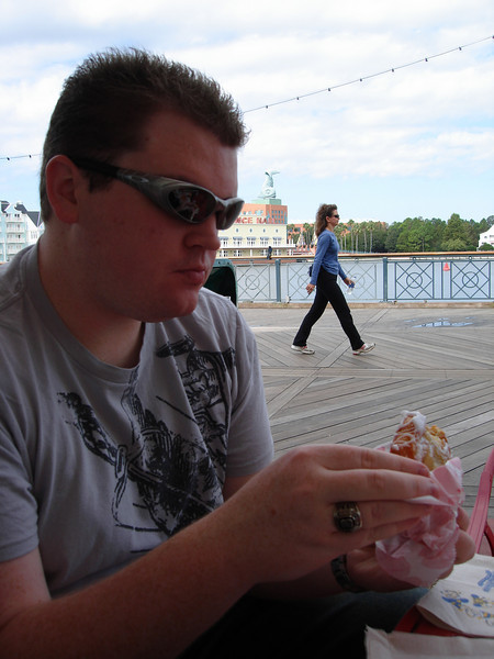 There was a bakery right out on the boardwalk in front of our hotel.  Beast croissants ever!! Yum.