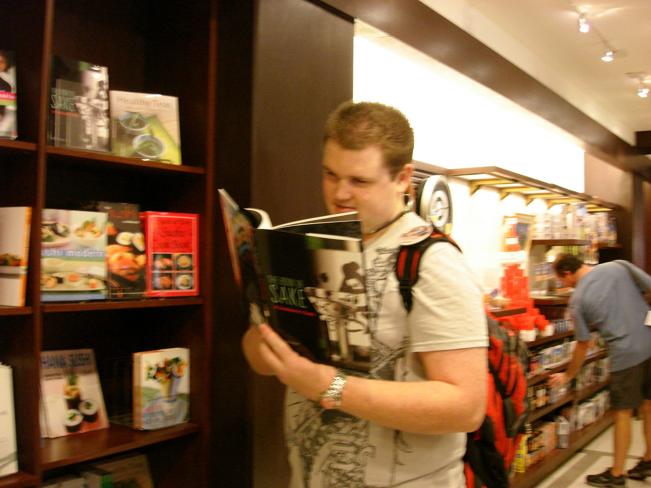 Oh look, he found him a book on ....Sake!!