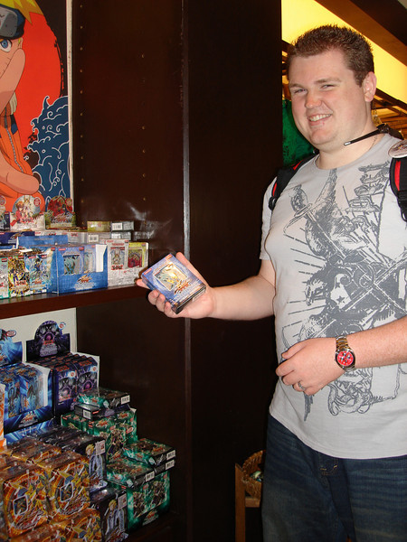 Oh look, Christopher found some Yugioh stuff...on our honeymoon... *sighs and shakes head*...love you honey..