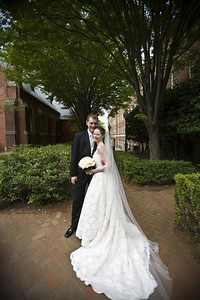 Rob and Emily outside the chapel - Washington, DC ... April 26, 2008 ... Photo by Holland Photo Arts