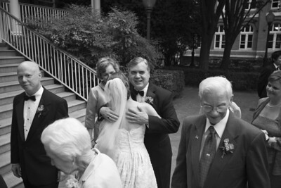 Emily hugs her new Father-in-Law - Washington, DC ... April 26, 2008 ... Photo by Holland Photo Arts