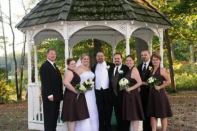 The bridal party (almost everyone)