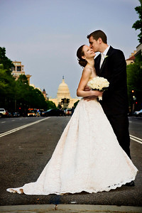 Rob and Emily on Pennsylvania Avenue with the Capitol in the background - Washington, DC ... April 26, 2008 ... Photo by Holland Photo Arts