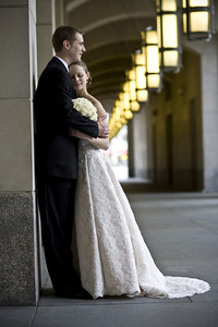 Emily and Rob outside the Ronald Regan Center - Washington, DC ... April 26, 2008 ... Photo by Holland Photo Arts