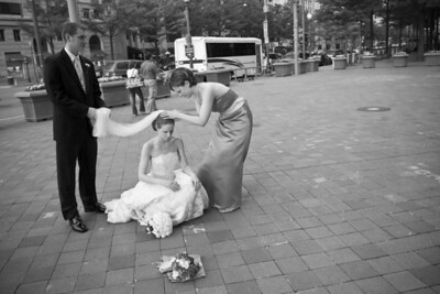 Taking care of the bride - Washington, DC ... April 26, 2008 ... Photo by Holland Photo Arts