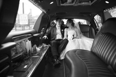 Emily and Rob in the limo - Washington, DC ... April 26, 2008 ... Photo by Holland Photo Arts