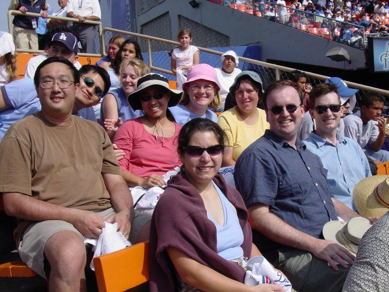 Alumni day at the ballpark.