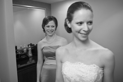 Jen smiles on as Emily gets ready - Washington, DC ... April 26, 2008 ... Photo by Holland Photo Arts