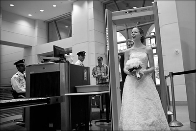 """""""The full DC experience""""  Emily set off the metal detector coming into the reception - Washington, DC ... April 26, 2008 ... Photo by Holland Photo Arts (www.hollandphotoarts.com)"""