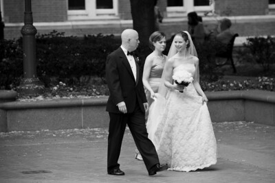 Dad Conger walking with his daugheters to the chapel - Washington, DC ... April 26, 2008 ... Holland Photo Arts