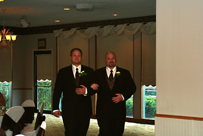 The ushers - such a handsome couple!