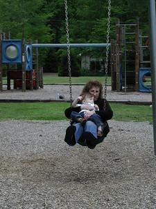 Janice and Tate swinging.