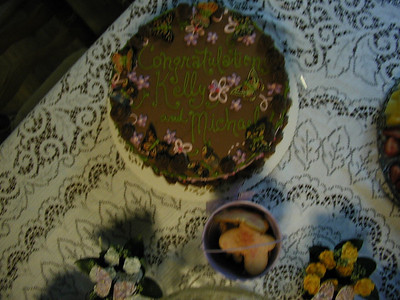 Close up of the cake.