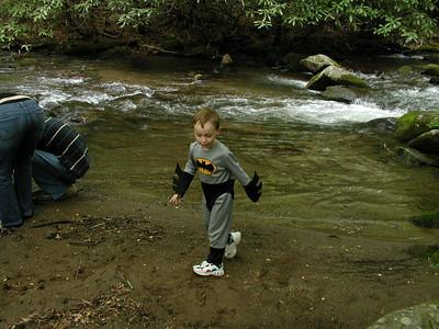 Eli . . I mean Batman at the creek.
