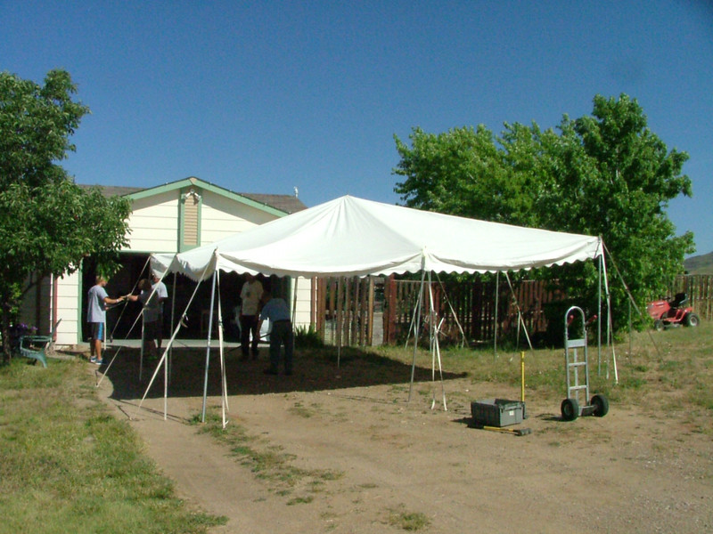 The shade tent.