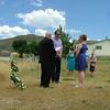 Pastor Skip begins the ceremony.