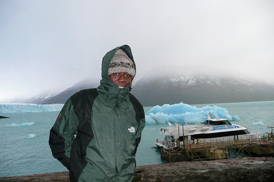 Julius with our boat to see the glacier up close