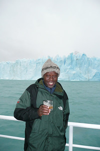 The boat served Whiskey on the Rocks with Glacier ice - the only drink where the ice is older than the whiskey!