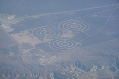 Strange crop circles on the light to Patagonia