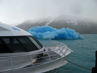 An iceberg from the glacier
