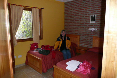 Mom and Arla's room at the YHA hostel in El Calafate. These are $80 in high season but only $32 now in low season