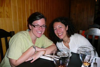 Sara and Paula at dinner