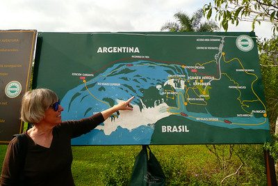 Arla and the map of the park
