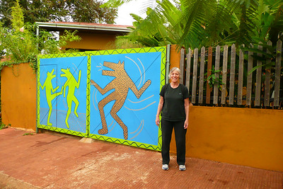 Arla outside the gate