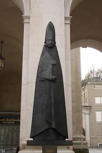 New, hip sculpture of the bishop
