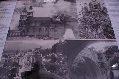 The aftermath of the Cathedral after WWII