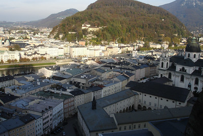 View of Salzburg from the hill