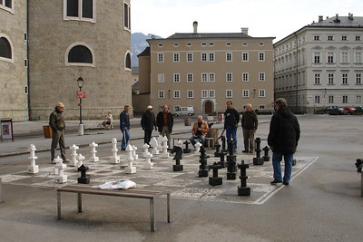 Locals playing Chess, downtown Salzburg