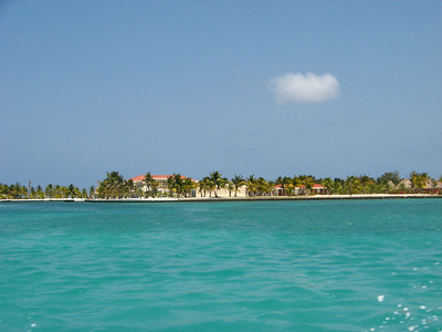 One of the nearby remote cayes