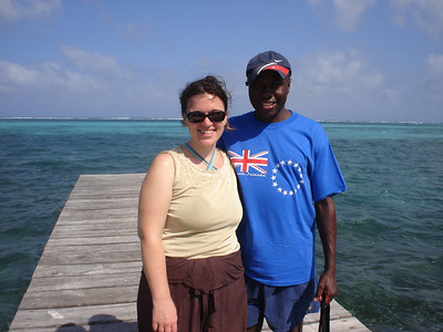 On our dock at Caye Caulker