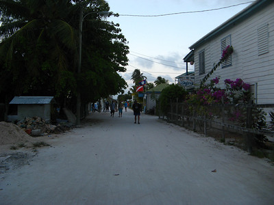 Thraffic jam on Caye Caulker