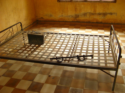 A bed where high ranking enemies were tortured