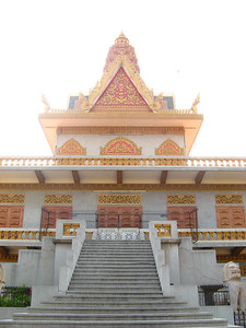 One of the Buddhist temples in towns