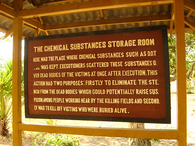 Signs describing the Killing Fields