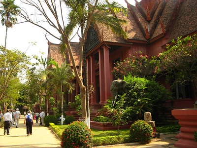 The National Museum, containing many of the treasures saved from the Angkor Temples
