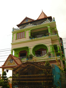 "Trying to ""out-bling"" the fancy Vietnamese houses"