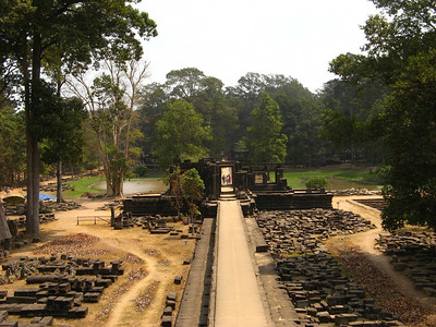 An empty section of Angkor Thom