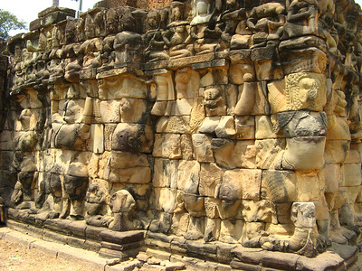 Elephants holding up the wall