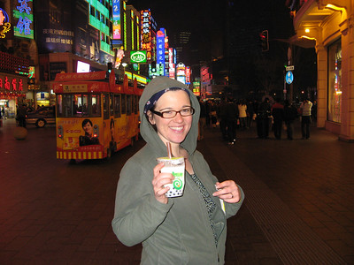 Drinking like the locals - Sara tries bubble tea