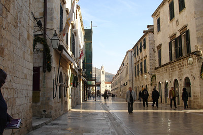 The main drag in the old town. Look at that empty street - Eat your heart out summer tourists!