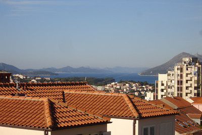 View from our pension ın Dubrovnik