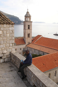 Julius in front of the Dominican monestary