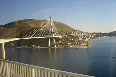 Recently added bridge to Dubrovnik from the north