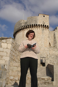 In front of a watchtower