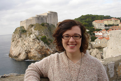 Walking the fortress walls around Old Town Dubrovnik